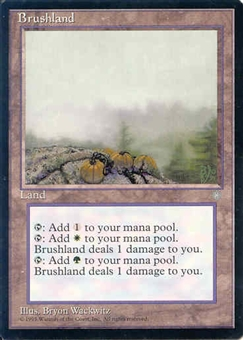 Magic the Gathering Ice Age Single Brushland - NEAR MINT (NM)