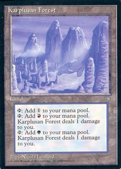 Magic the Gathering Ice Age Single Karplusan Forest UNPLAYED (NM/MT)