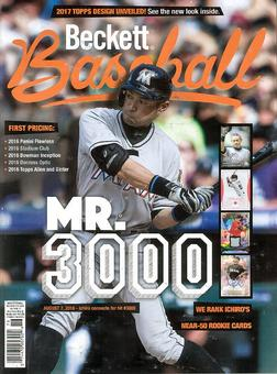 2016 Beckett Baseball Monthly Price Guide (#127 October) (Ichiro)