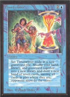 Magic the Gathering Beta IE Single Timetwister UNPLAYED (NM/MT)