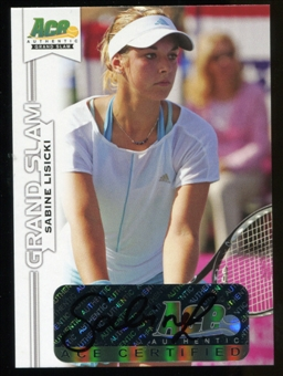 2013 Leaf Ace Authentic Grand Slam #BASL1 Sabine Lisicki Autograph