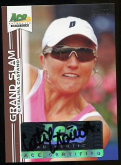 2013 Leaf Ace Authentic Grand Slam Brown #BACC1 Catalina Castano Autograph 28/50