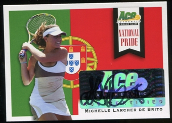 2013 Leaf Ace Authentic Grand Slam National Pride Autographs #NPMLB Michelle Larcher de Brito Autograph
