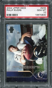 2004 Upper Deck #205 Philip Rivers Rookie Card RC PSA 10 Gem Mint