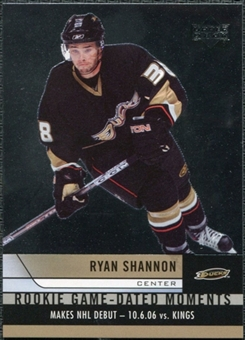 2006/07 Upper Deck Rookie Game Dated Moments #RGD1 Ryan Shannon
