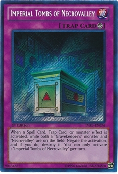 Yu-Gi-Oh Legacy of the Valiant 1st Ed Single Imperial Tombs of Necrovalley Secret Rare - NEAR MINT