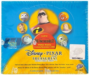 Disney Pixar Treasures The Incredibles Trading Cards Box