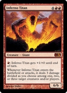 Magic the Gathering 2012 Single Inferno Titan Foil