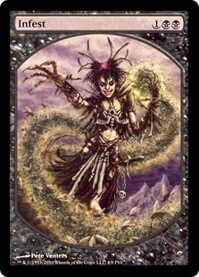Magic the Gathering Promo Single Infest Textless - NEAR MINT (NM)