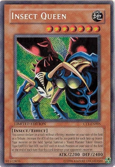 Yu-Gi-Oh Limited Edition Tin Single Insect Queen Secret Rare (CT1-EN005)