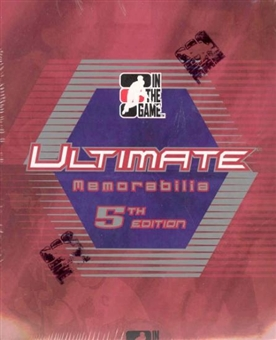 2004/05 ITG Ultimate Memorabilia 5th Edition Hockey Hobby Box