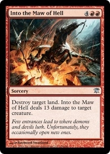 Magic the Gathering Innistrad Single Into the Maw of Hell Foil