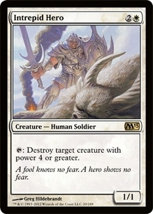 Magic the Gathering 2013 Single Intrepid Hero Foil