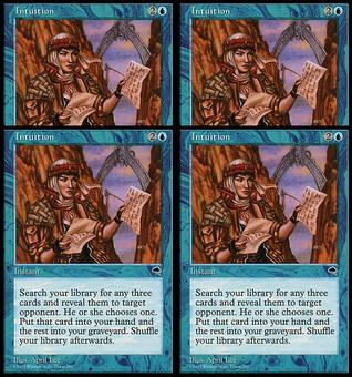 Magic the Gathering Tempest PLAYSET Intuition - NEAR MINT (NM)