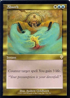 Magic the Gathering Invasion Single Absorb - MODERATE PLAY (MP)