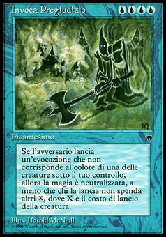 Magic the Gathering Legends Single Invoca Pregiudizio (Invoke Prejudice)- NEAR MINT (NM)