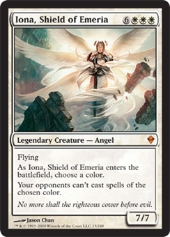 Magic the Gathering Zendikar Single Iona, Shield of Emeria Foil - SLIGHT PLAY (SP)