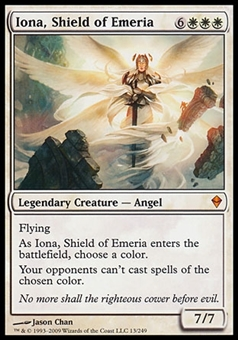 Magic the Gathering Zendikar Single Iona, Shield of Emeria FOIL - MODERATE PLAY (MP)