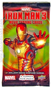 Marvel Iron Man 3 Trading Cards Hobby Pack (Upper Deck 2013)