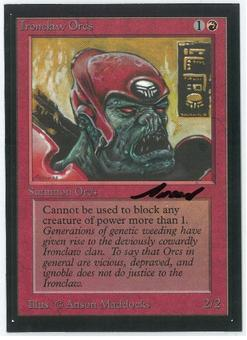 Magic the Gathering Beta Artist Proof Ironclaw Orcs - SIGNED BY ANSON MADDOCKS