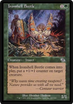 Magic the Gathering Judgment Single Ironshell Beetle Foil