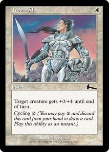 Magic the Gathering Urza's Legacy Single Iron Will Foil