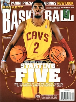 2012 Beckett Basketball Monthly Price Guide (#243 December) (Kyrie Irving)