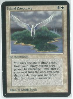 Magic the Gathering Alpha Single Island Sanctuary - SLIGHT PLAY (SP)
