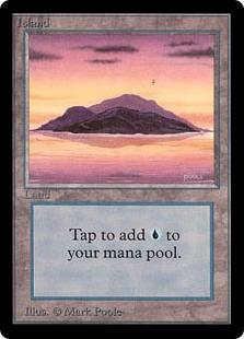 Magic the Gathering Beta Single Island (Ver 1) UNPLAYED (NM/MT)