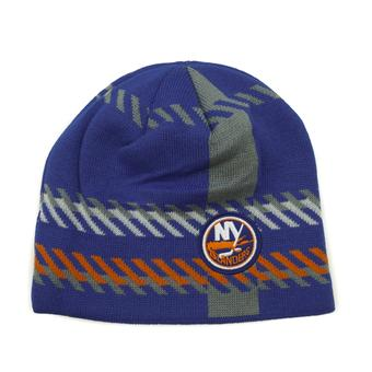 New York Islanders Old Time Hockey Blue Bolgar Beanie Knit Hat (Adult OSFA)