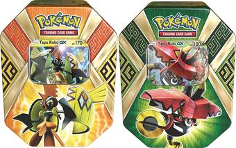 Pokemon Island Guardians 2-Tin Set (Tapu Koko GX & Tapu Bulu GX)