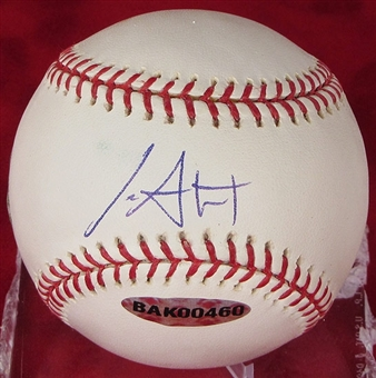 Ian Stewart Autographed Baseball (Slightly Stained) (UDA COA)