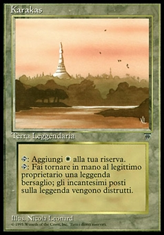 Magic the Gathering Legends Single Karakas ITALIAN - MODERATE PLAY (MP)