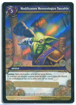 World of Warcraft Single Personal Weather Maker ITALIAN LOOT CARD - UNSCRATCHED