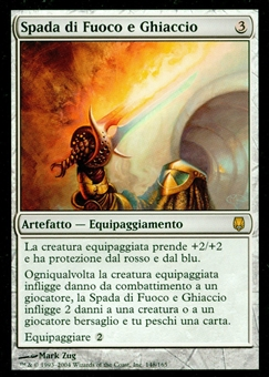 Magic the Gathering Darksteel Single Sword of Fire and Ice ITALIAN - SLIGHT PLAY (SP)