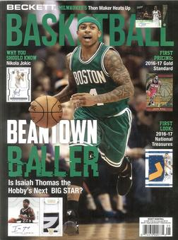 2017 Beckett Basketball Monthly Price Guide (#296 May) (Isaiah Thomas)