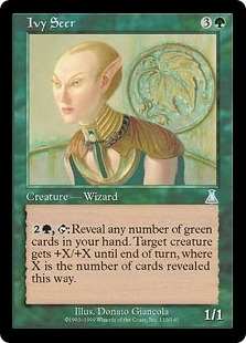 Magic the Gathering Urza's Destiny Single Ivy Seer FOIL
