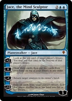 Magic the Gathering Worldwake Single Jace, the Mind Sculptor - SLIGHT PLAY (SP)