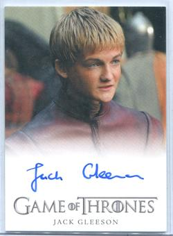 2012 Game of Thrones Jack Gleeson as Prince Joffrey Baratheon Auto