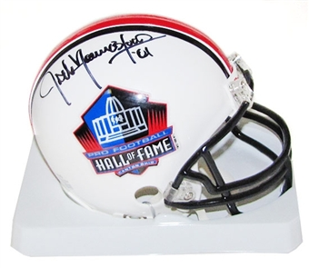 Jack Youngblood Autographed Hall of Fame Mini Helmet