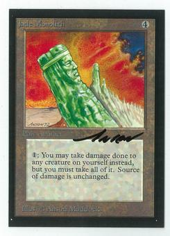 Magic the Gathering Beta Artist Proof Jade Monolith - SIGNED BY ANSON MADDOCKS