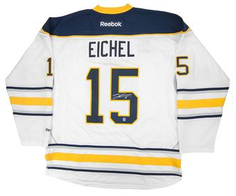 Jack Eichel Autographed Buffalo Sabres XL White Hockey Jersey