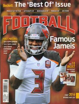 2016 Beckett Football Monthly Price Guide (#305 June) (Jameis Winston)