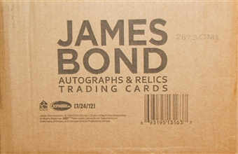 James Bond Autographs and Relics Trading Cards 12-Box Case (Rittenhouse 2013)