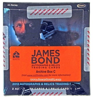 James Bond Autographs and Relics Trading Cards Archives Box (Rittenhouse 2013)