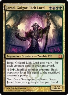 Magic the Gathering Return to Ravnica Single Jarad, Golgari Lich Lord FOIL