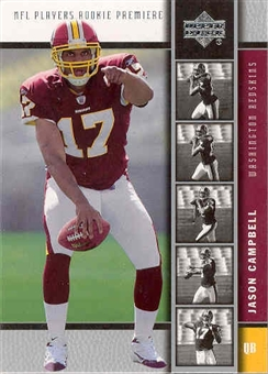2005 Upper Deck Football Jason Campbell 10 Card RC Lot