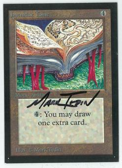 Magic the Gathering Beta Artist Proof Jayemdae Tome - SIGNED BY MARK TEDIN