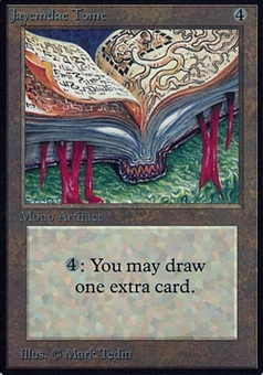 Magic the Gathering Alpha Single Jayemdae Tome - MODERATE PLAY (MP)