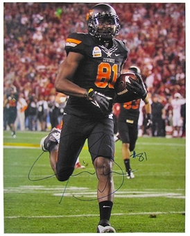Justin Blackmon Autographed Oklahoma State Cowboys 16x20 Photo